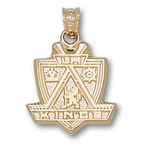10kt Yellow Gold 5/8in Los Angeles Kings Shield Pendant