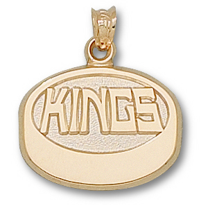 Los Angeles Kings Puck 5/8in Charm - 10kt Gold