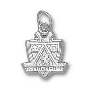 Sterling Silver 1/2in Los Angeles Kings Shield Charm