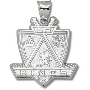 Sterling Silver 1 1/2in Los Angeles Kings Giant Pendant