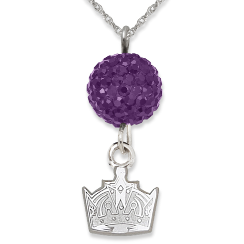 Sterling Silver Los Angeles Kings Crystal Ovation Necklace