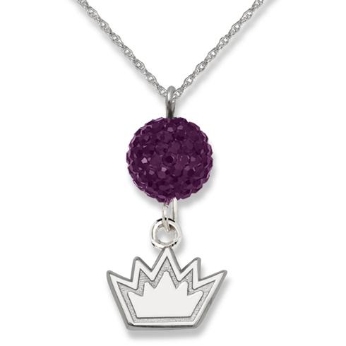 Sterling Silver Sacramento Kings Ovation Necklace
