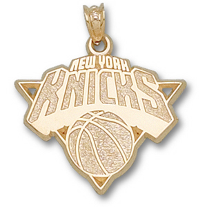 14kt Yellow Gold 5/8in New York Knicks Logo Pendant