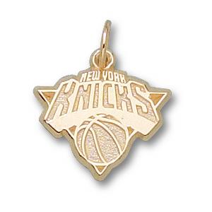 14kt Yellow Gold 3/8in New York Knicks Logo Pendant