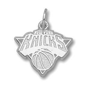Sterling Silver 3/8in New York Knicks Logo Pendant