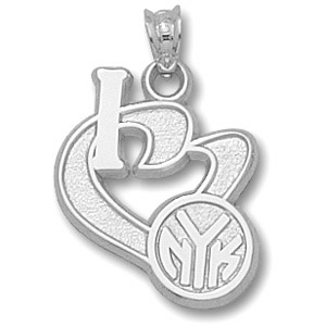 Sterling Silver 3/4in I Heart the Knicks Pendant