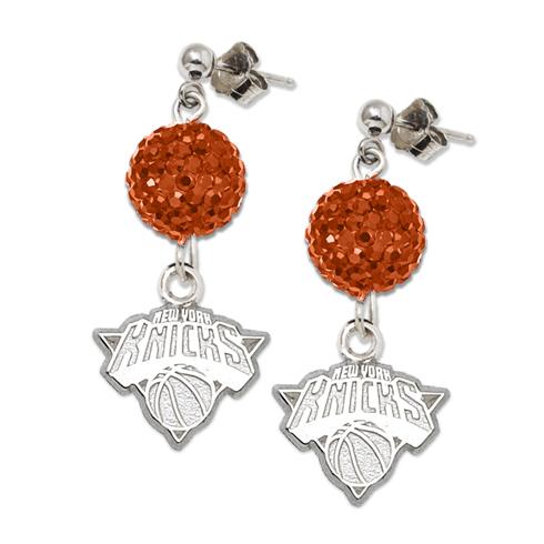 Sterling Silver New York Knicks Ovation Earrings