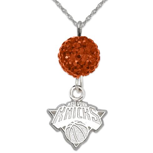 Sterling Silver New York Knicks Ovation Necklace