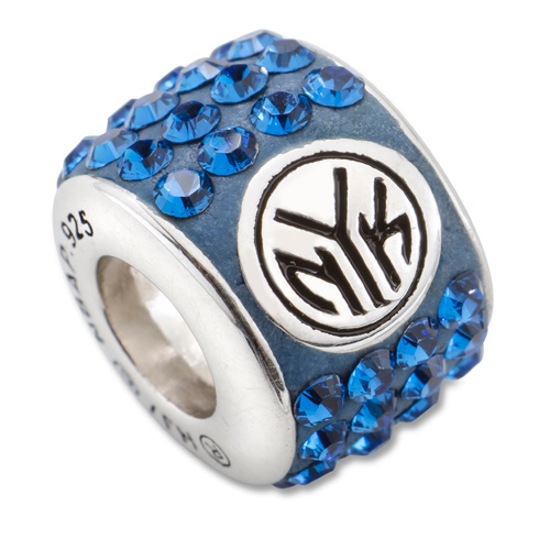Sterling Silver New York Knicks Premier Crystal Bead