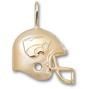 Kansas State Wildcats 3/4in 10k Helmet Pendant
