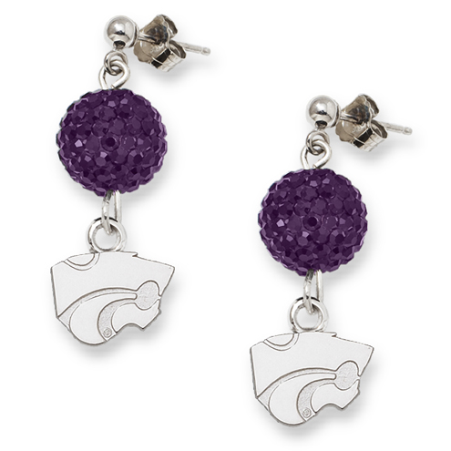 Kansas State University Crystal Ovation Earrings