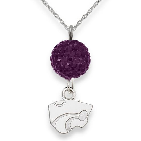 Sterling Silver Kansas State University Crystal Ovation Necklace