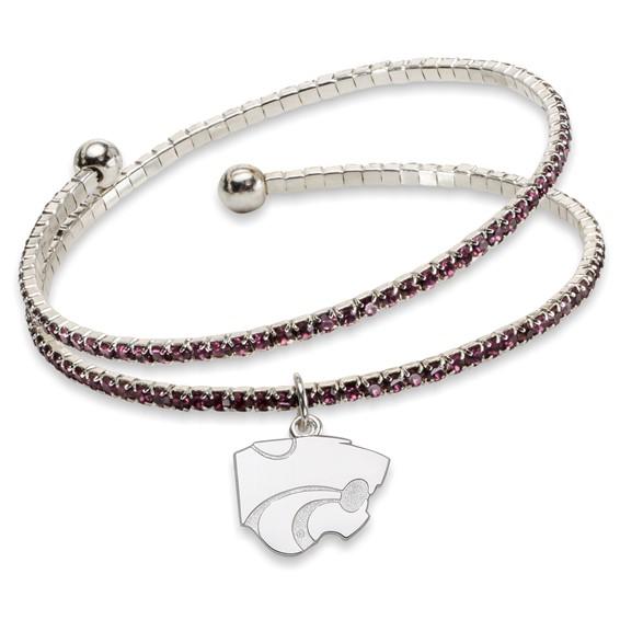 Kansas State University Amped Logo Crystal Bracelet