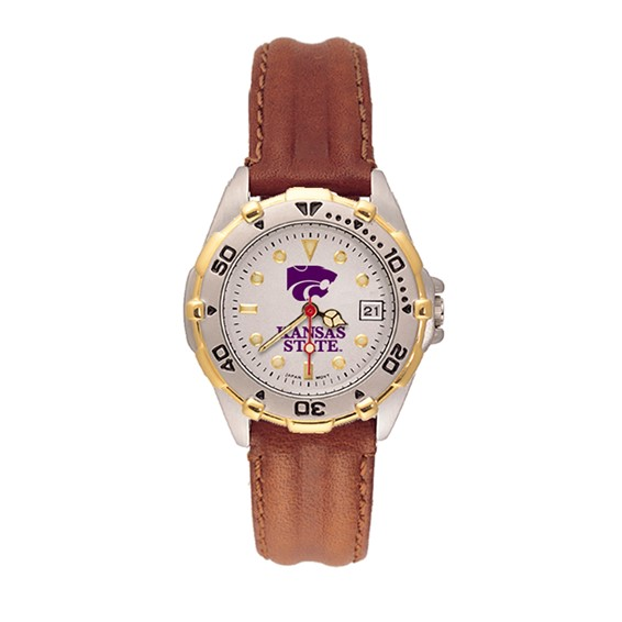 Kansas State Wildcats Ladies' All Star Leather Watch