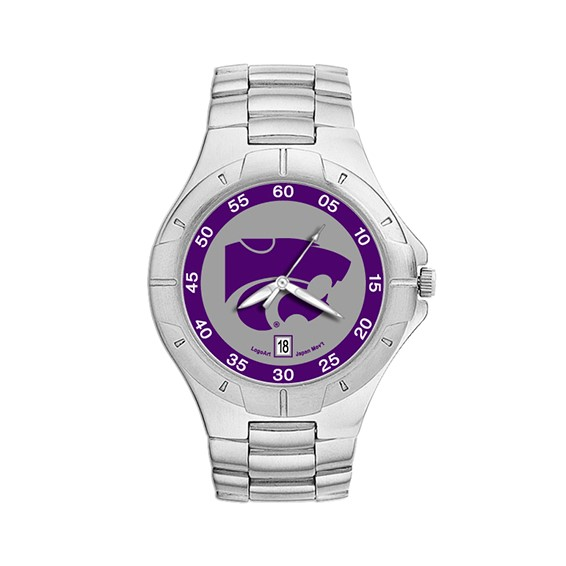 Kansas State Wildcats Mens Stainless Pro II Watch