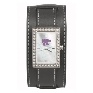 Kansas State Wildcats Wide Starlette Leather Watch