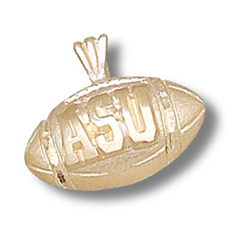10kt Yellow Gold 1/2in Appalachian State Football Pendant