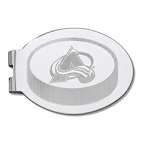 Colorado Avalanche Silver Plated Laser Engraved Money Clip