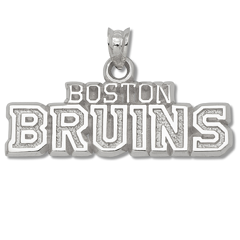 Sterling Silver 3/8in Boston Bruins Team Pendant