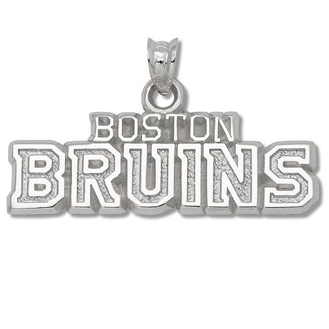 Sterling Silver 3/8in Boston Bruins Team Pendant