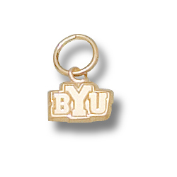 10kt Yellow Gold 3/16in BYU Charm