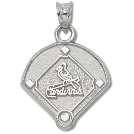 sterling silver 5 8in st louis cardinals field pendant crd037 ss. Black Bedroom Furniture Sets. Home Design Ideas