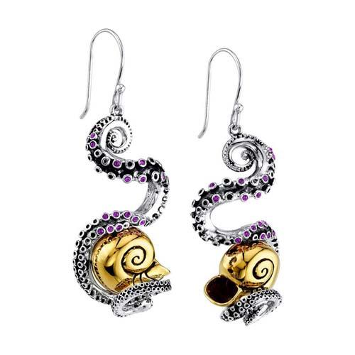 Disney X RockLove The Little Mermaid Tentacle Earrings French Hooks