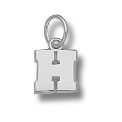 Sterling Silver 5/16in Harvard H Charm