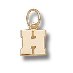 10kt Yellow Gold 5/16in Harvard H Charm