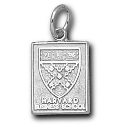 Sterling Silver 1/2in Harvard Business School Pendant