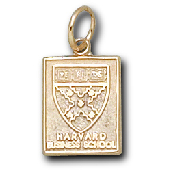 14kt Yellow Gold 1/2in Harvard Business School Pendant