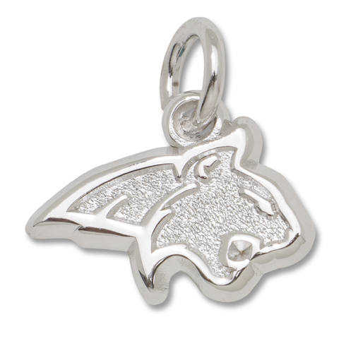 Sterling Silver 3/8in Montana State Cat Logo Charm
