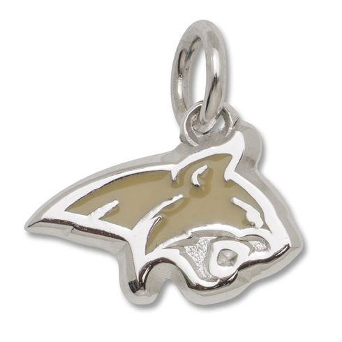 Sterling Silver Montana State Enameled 3/8in Logo Charm