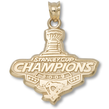 10kt Yellow Gold 3/4in Pittsburgh Penguins 2009 Champs Pendant