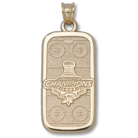 14kt Yellow Gold Pittsburgh Penguins 2009 Champs Rink Pendant