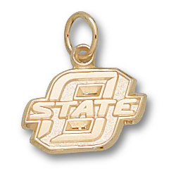 10kt Yellow Gold 3/8in O STATE Pendant