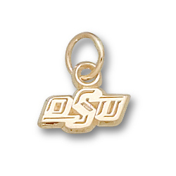 10kt Yellow Gold 3/16in Oklahoma State OSU Pendant
