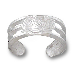 Sterling Silver Oklahoma State OSU Toe Ring