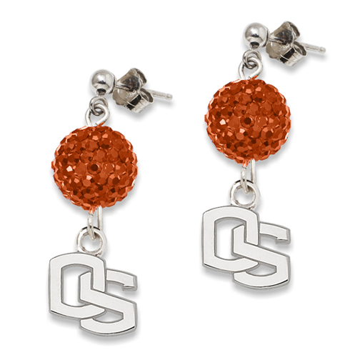 Oregon State Crystal Ovation Earrings