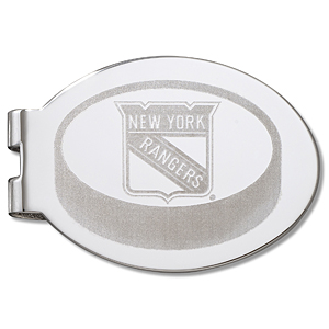 New York Rangers Silver Plated Laser Engraved Money Clip