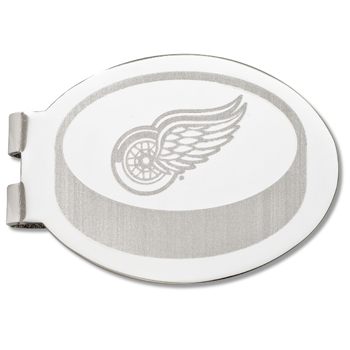 Detroit Red Wings Silver Plated Laser Engraved Money Clip