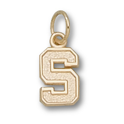 14kt Yellow Gold 3/8in Stanford University S Pendant