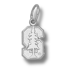 Sterling Silver 1/4in Stanford University S Tree Charm