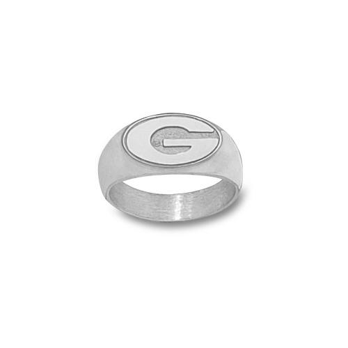 Sterling Silver Men's University of Georgia G Ring