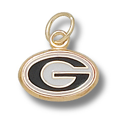 10kt Gold 5/16in University of Georgia G Enamel Pendant
