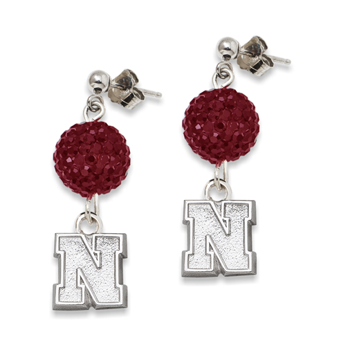 University of Nebraska Crystal Ovation Earrings