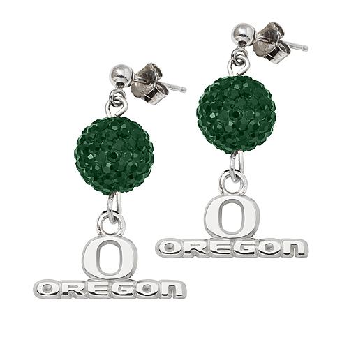 University of Oregon Crystal Ovation Earrings