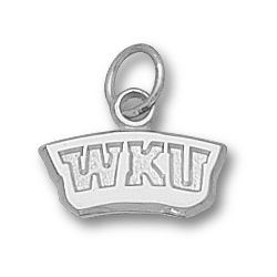 Sterling Silver 1/4in Western Kentucky WKU Pendant