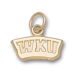 14kt Yellow Gold 1/4in Western Kentucky WKU Pendant