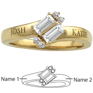 10kt Yellow Gold Adoration Promise Ring